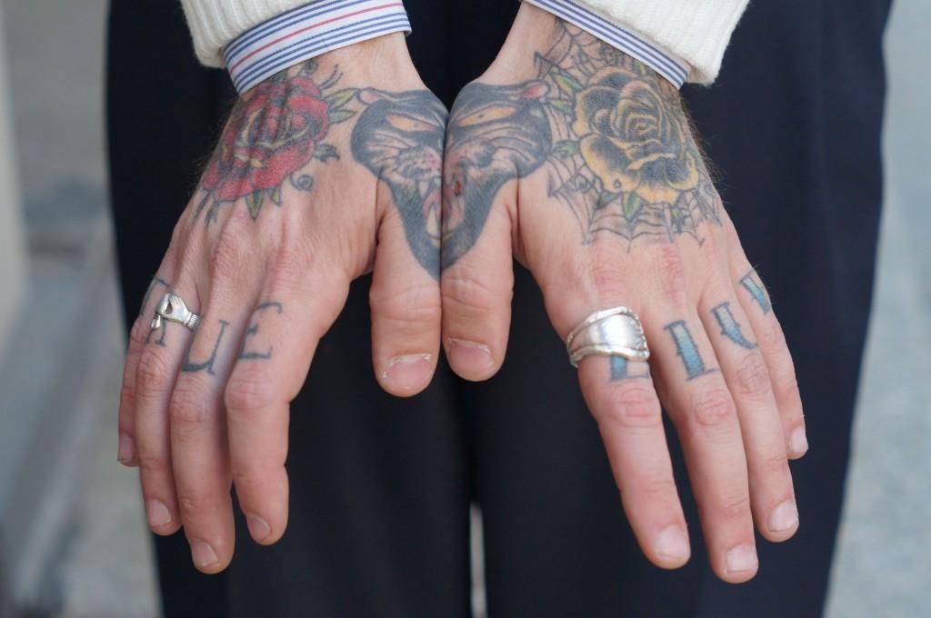 David hand tattoes